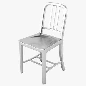 navy chair 3d max