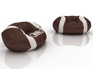 rugby ball chair bag 3d model
