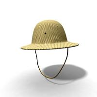 3d safari hat model