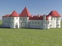 varazdin fortress - old 3d model