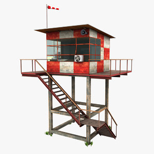 3d 3ds air traffic control tower