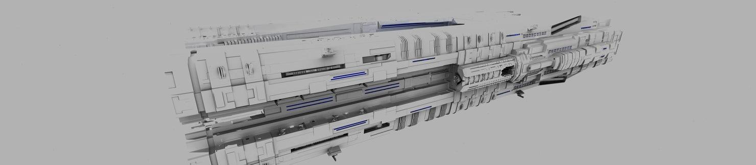 3d spaceship ship space model