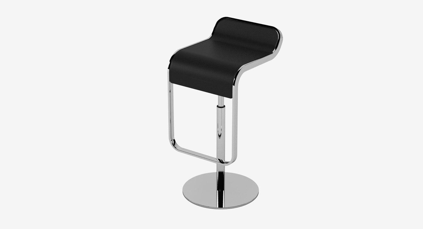 lem piston bar stool 3d model