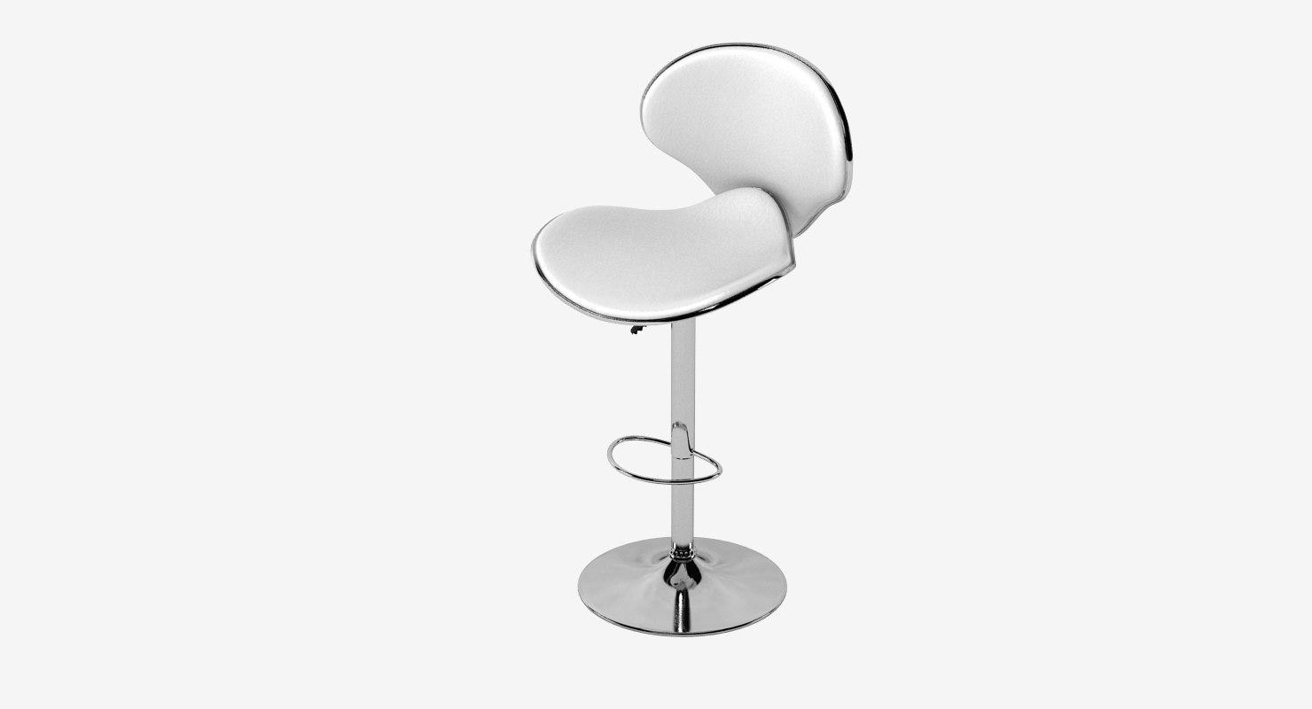lexmod saddleback fly bar stool 3d model