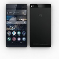 3d model huawei p8 carbon black