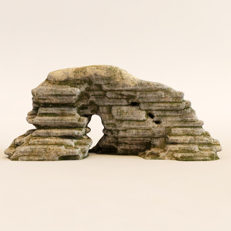 3d model stone arch