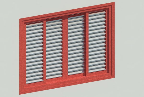 rfa fixed louvre sliding window