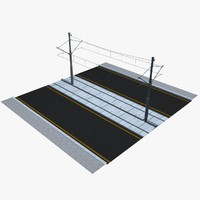 3d model tramway rails