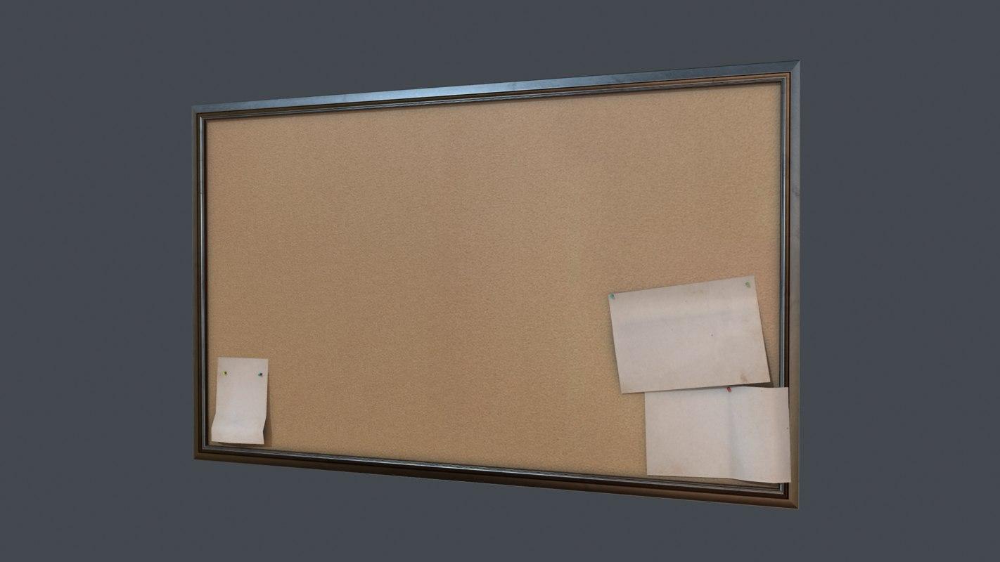 Corkboard 3D Models for Download | TurboSquid