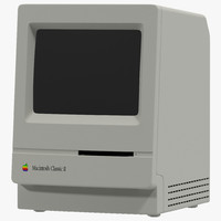 apple macintosh classic ii 3d c4d