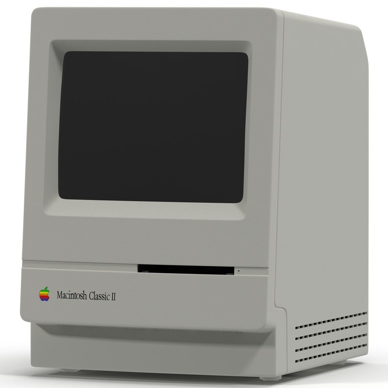apple macintosh classic ii 3d c4d