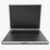 3d apple powerbook g4 modeled model