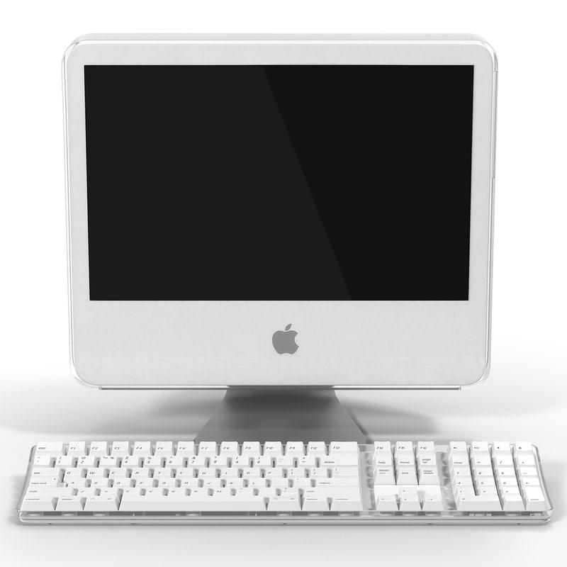 apple imac g5 desktop 3d model