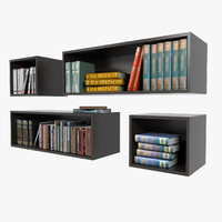 bookshelves books 3ds