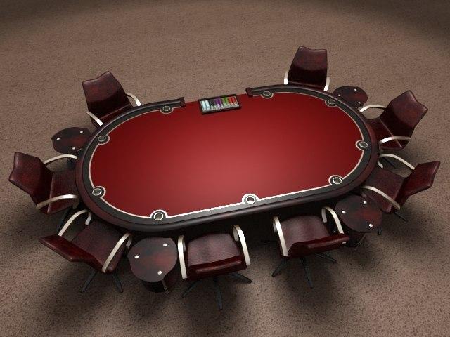 3d holdem poker table render model