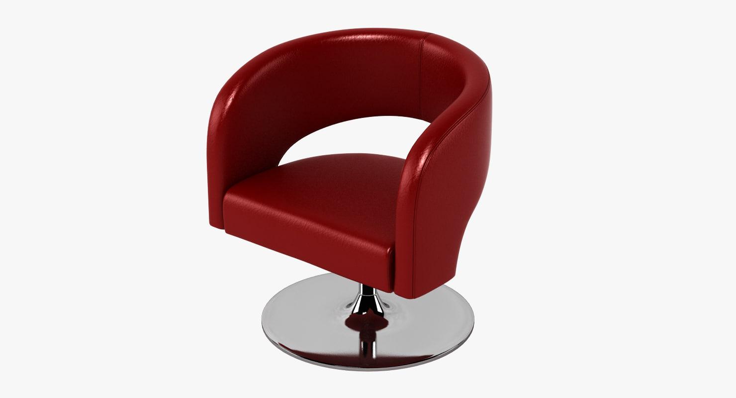 3d choo chair design swivel model