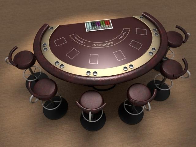 maya blackjack table ready render