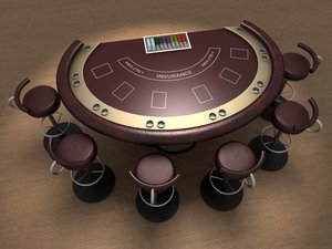 maya blackjack table ready render