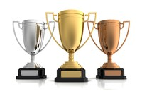 High Quality Gold, Silver and Bronze Award Cups