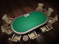 Holdem Pokertable with 2 different theme