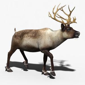 obj reindeer rigged