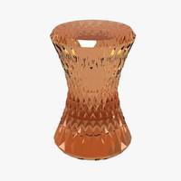3d marcel wanders stone stool model