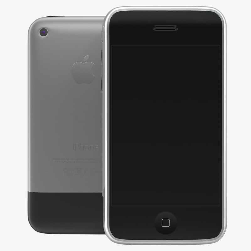 apple iphone 2 3g 3d model