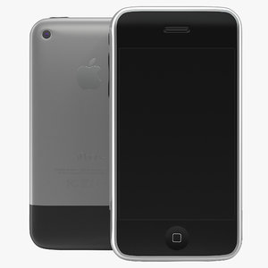 apple iphone 2 3g 3d model