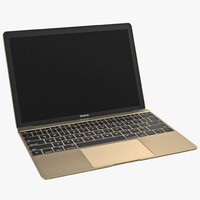 3d model apple macbook pro gold