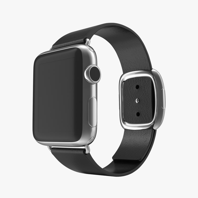 apple watch 38mm steel 3d model