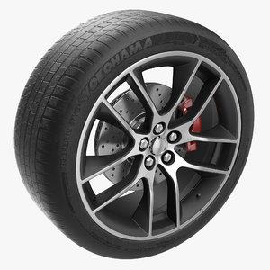 car wheel modeled 3ds