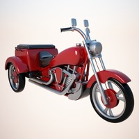 motorized tricycle cycle 3d model