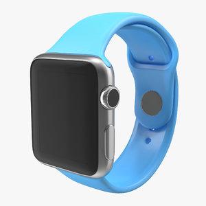 3d model of apple watch 38mm fluoroelastomer