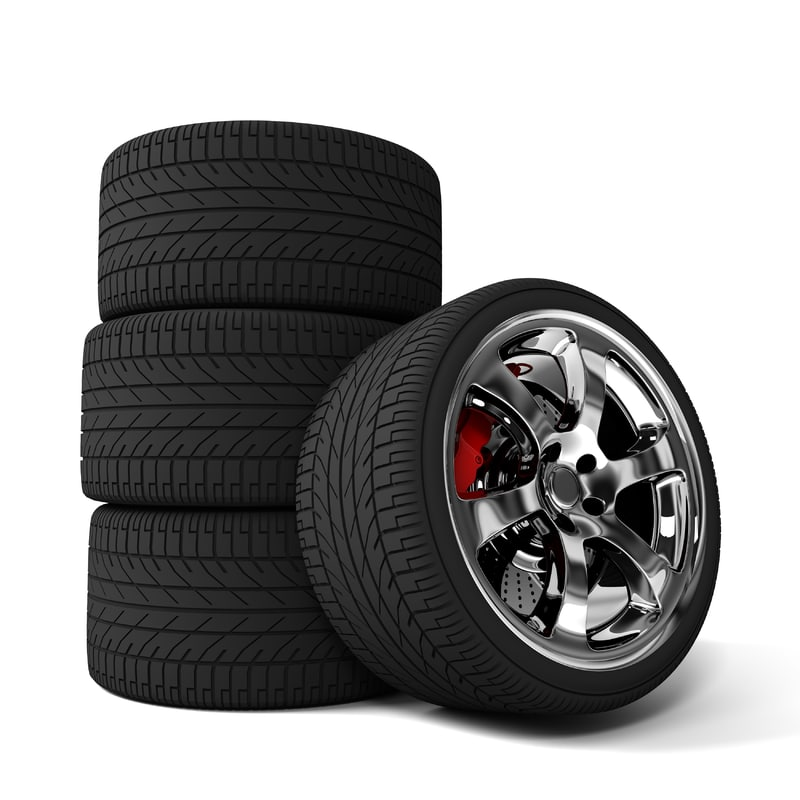 3d car tire brakes model