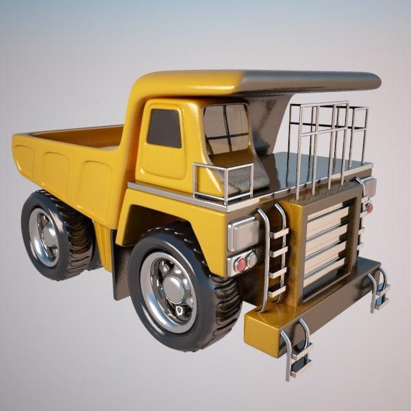 haul truck 3d model