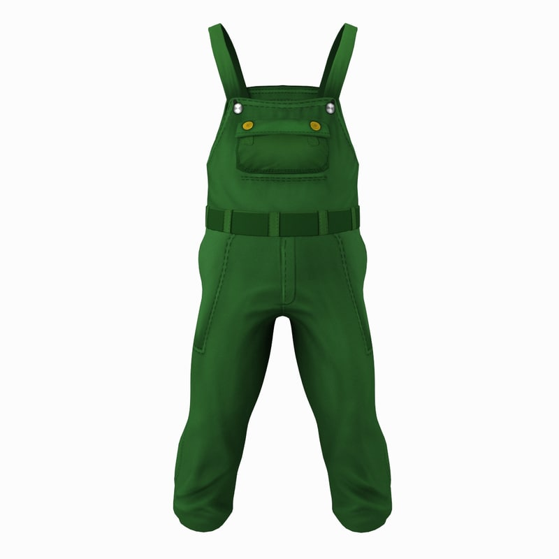 coveralls cartoon 3d model