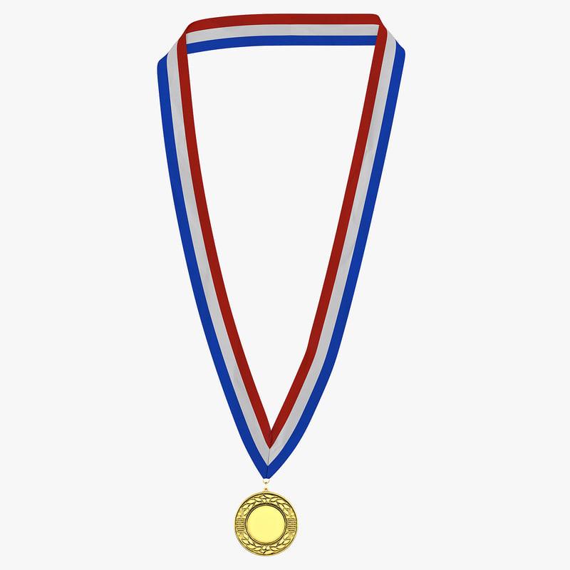 award medal gold 3d max