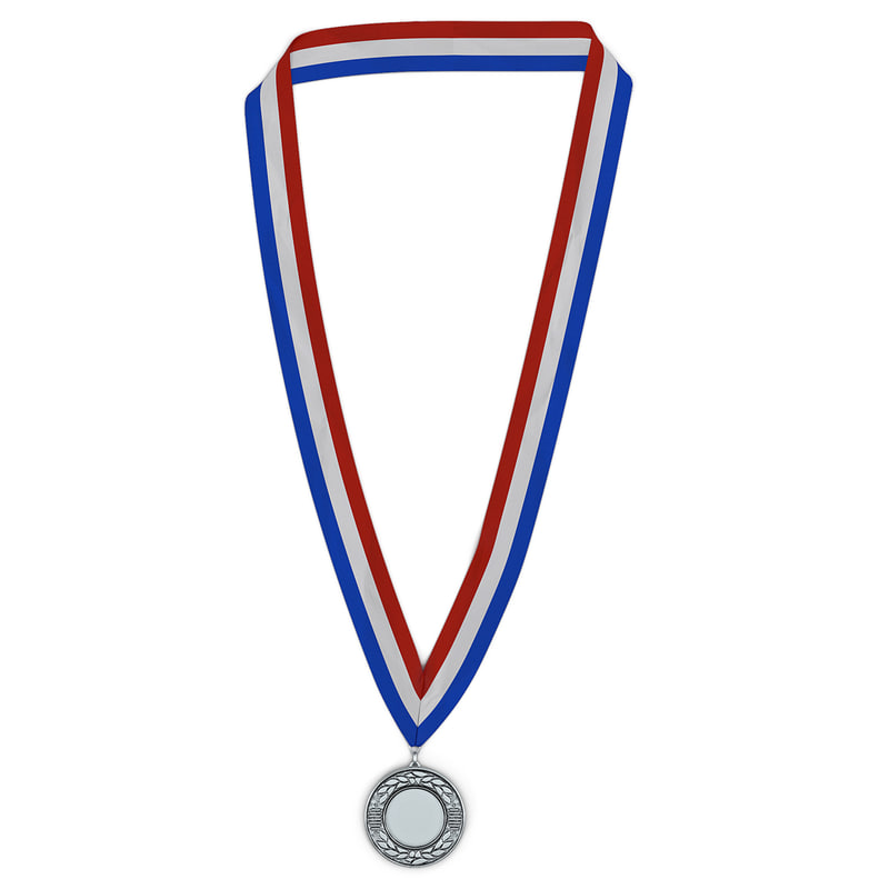 award medal silver modeled 3d model