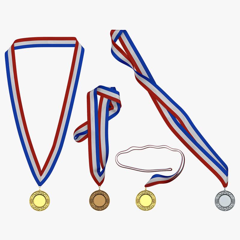 award medals set 2 3d 3ds
