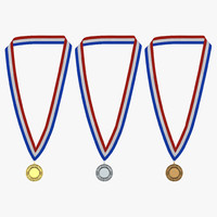 3d award medals set