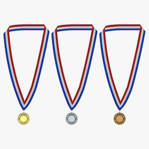 3d award medals set