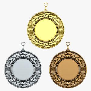 3d award medals set 3