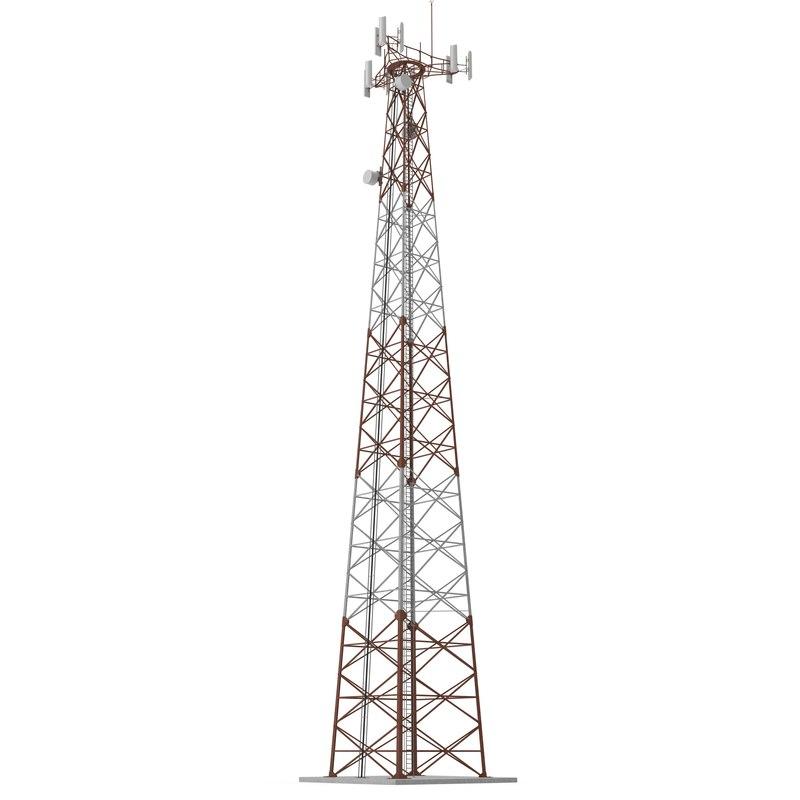 3d cellphone tower