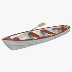 max rowing boat 4 modeled