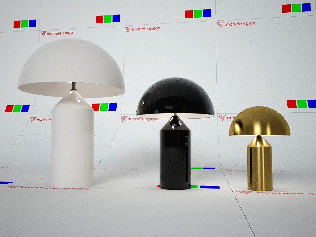 atollo table lamp 3d model
