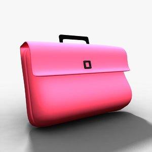3d model of kids school bag