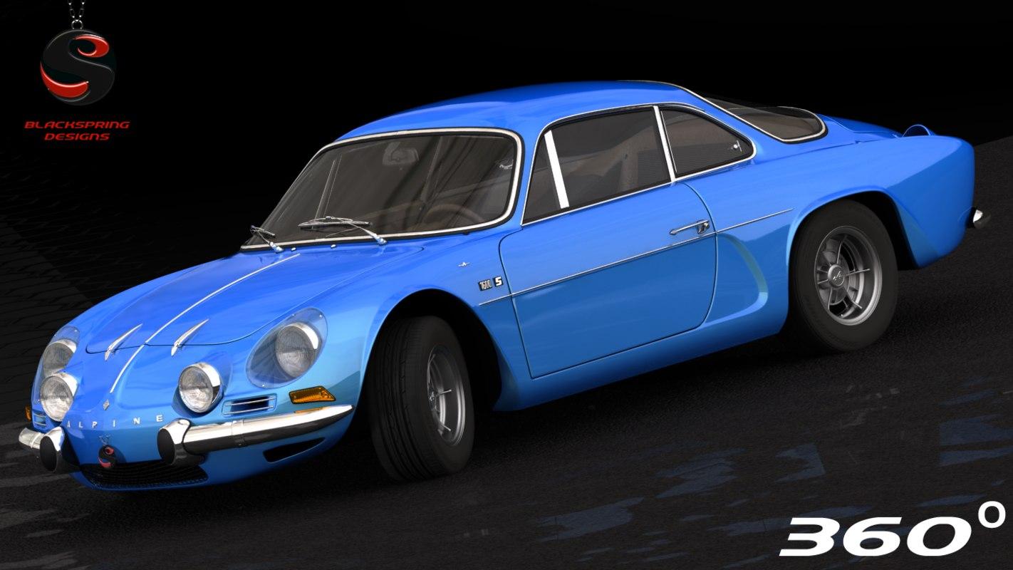 renault alpine a110 1973 3d model