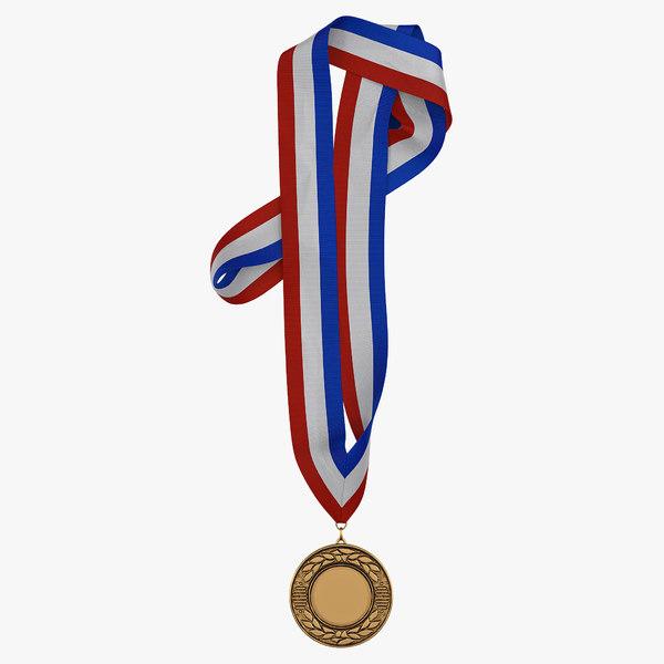 award medal 3 bronze 3d model