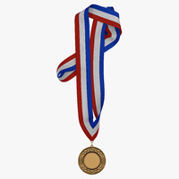 award medal 3 bronze 3d model