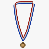 3ds award medal bronze modeled